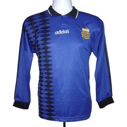 1994-95 Argentina Away Shirt Adidas Long Sleeve Small (Excellent Condition)